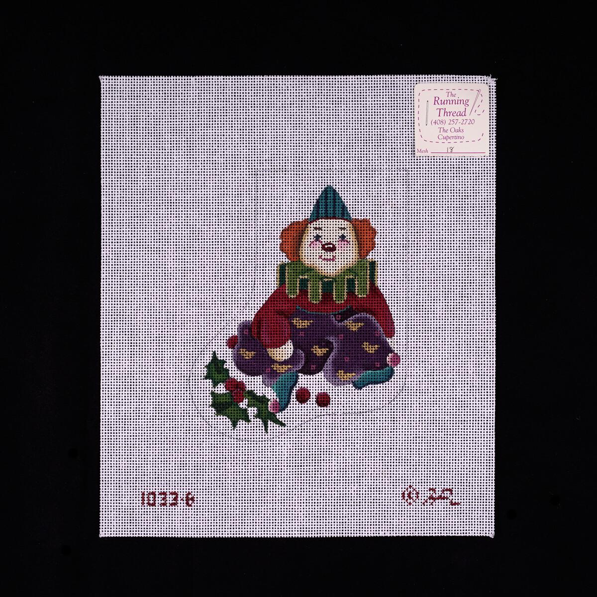 Melissa Shirley, Mini Sock, Clown, MS1033B