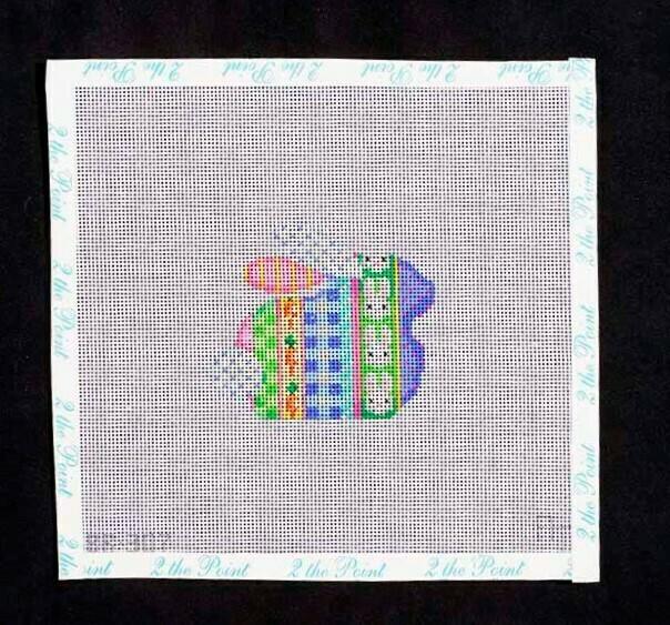 Associated Talents, Pastel Striped Bunny, ATBR307