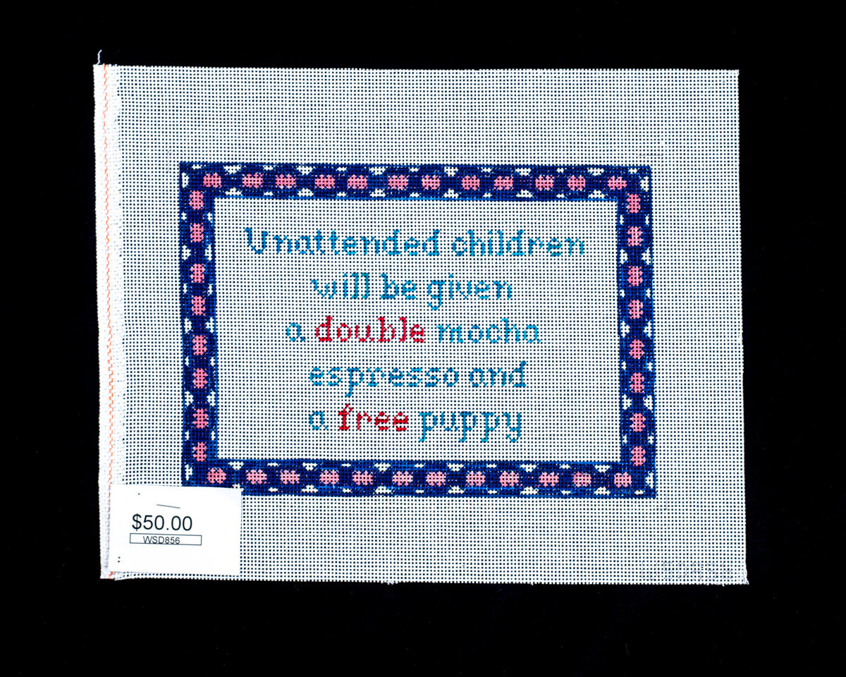 Winnetka Designs, Unattended Children will be given a Double Mocha Espresso and a Free Puppy, WSD856