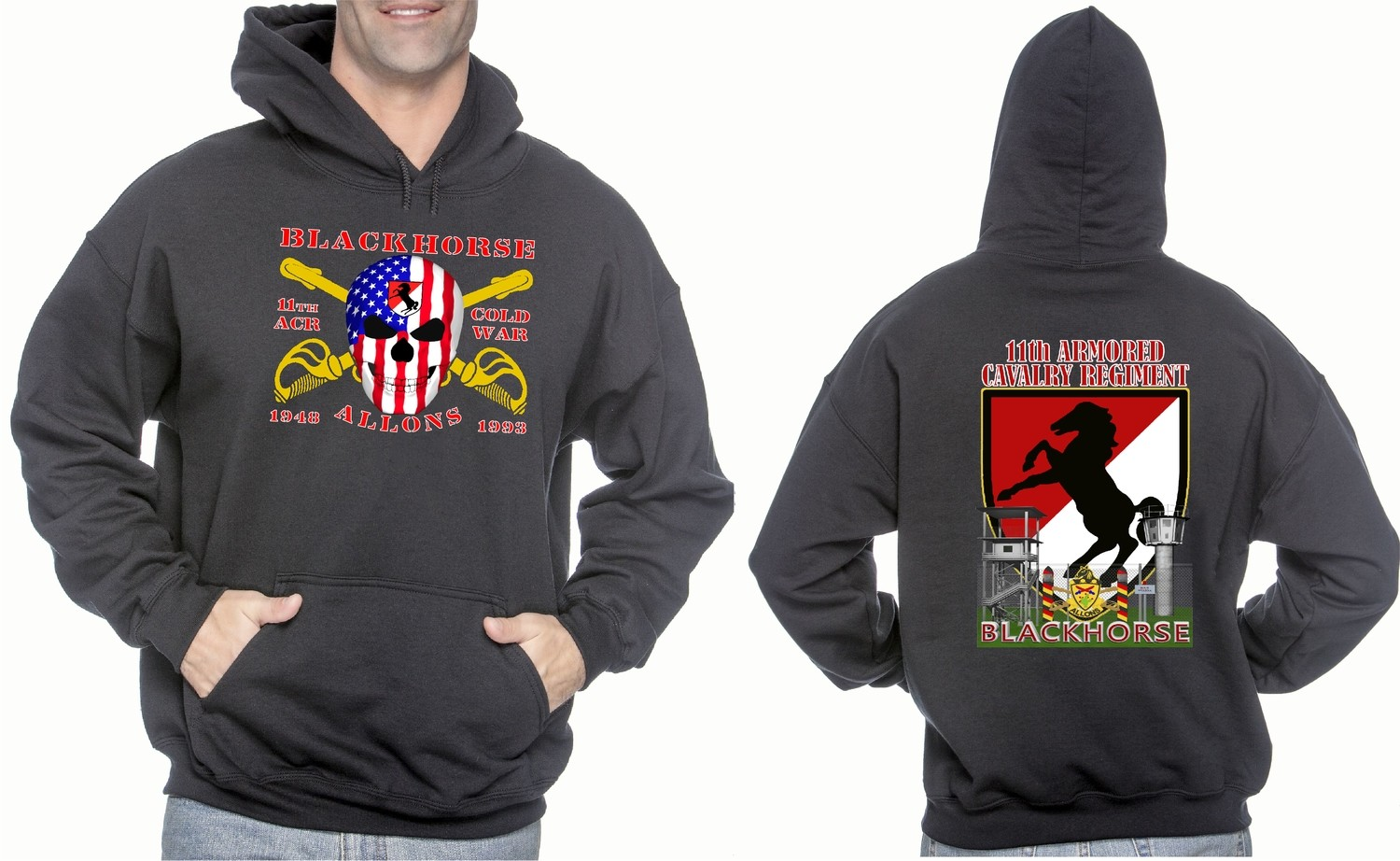 BlackHorse Cold War Border Hoodie FREE SHIPPING