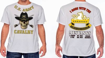 Mustangs 8th Cavalry Custom T-Shirt