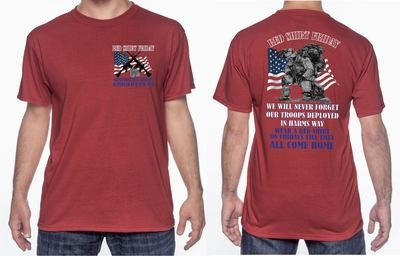 NEW RED SHIRT FRIDAY 2 SIDED SHIRT FREE SHIPPING