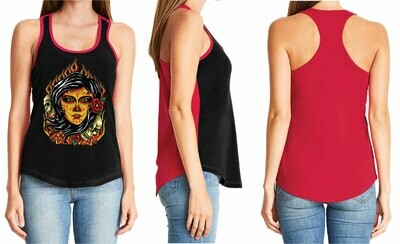 Flaming Day Of The Dead Ladies Top