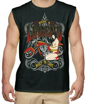 RIDE A LEGEND BUILT TO LAST MENS SHIRT FREE SHIPPING
