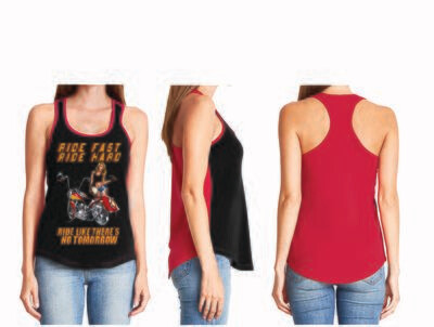 RIDE FAST RIDE HARD LADIES TOP FREE SHIPPING