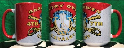4TH/7TH CAV GARRY OWEN 16OZ Coffee Mug FREE SHIPPING