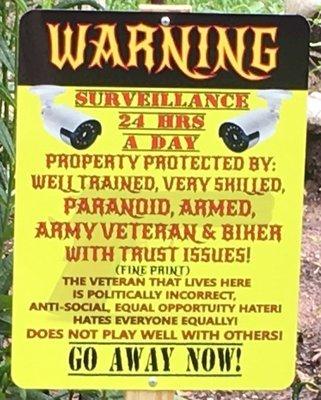 Warning Sign 9 x 12 Warning Surveillance FREE SHIPPING
