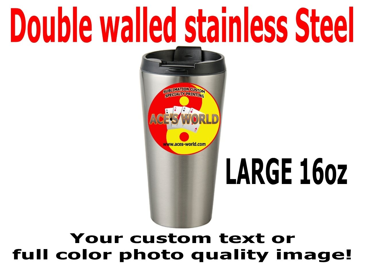 16oz Stainless Steel Vacuum Sealed Tumbler FREE SHIPPING