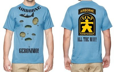 509th GERONIMO T-SHIRT FREE SHIPPING