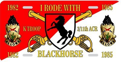 I Rode With 3rd / 11th ACR License Plate FREE SHIPPING