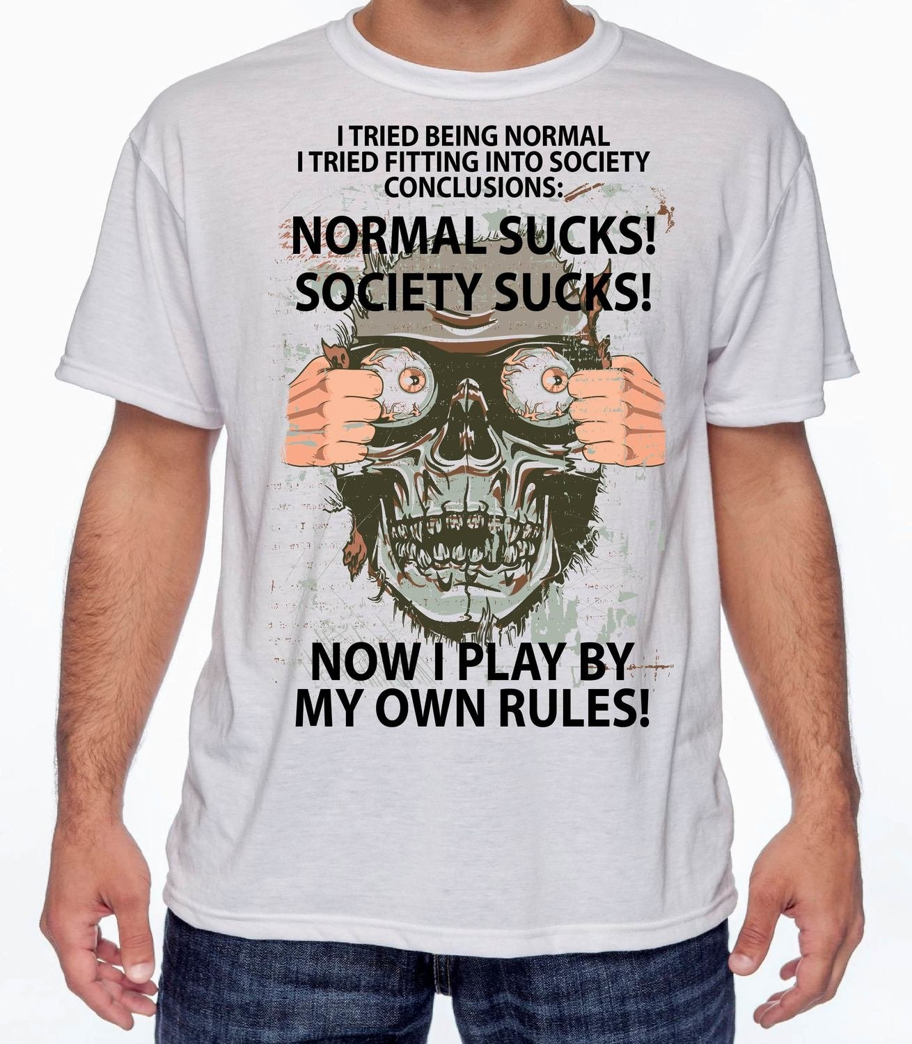 NORMAL SUCKS T-SHIRT FREE SHIPPING