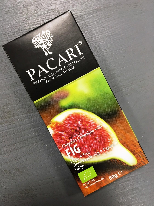Органический шоколад Pacari с инжиром 60%, 50 гр