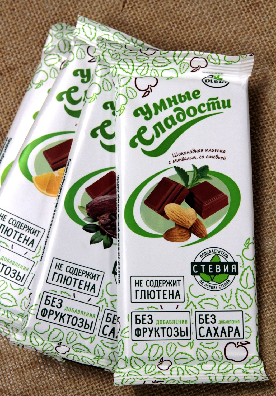 Шоколад с миндалем, 90 г