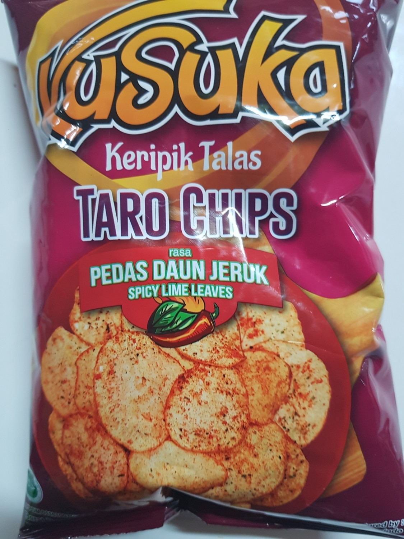 Kusuka - Keripik Talas Pedas daun jeruk @40g