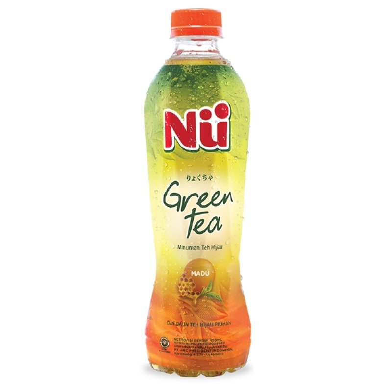 Nu Green Tea - Rasa Madu (Honey) 450 ml