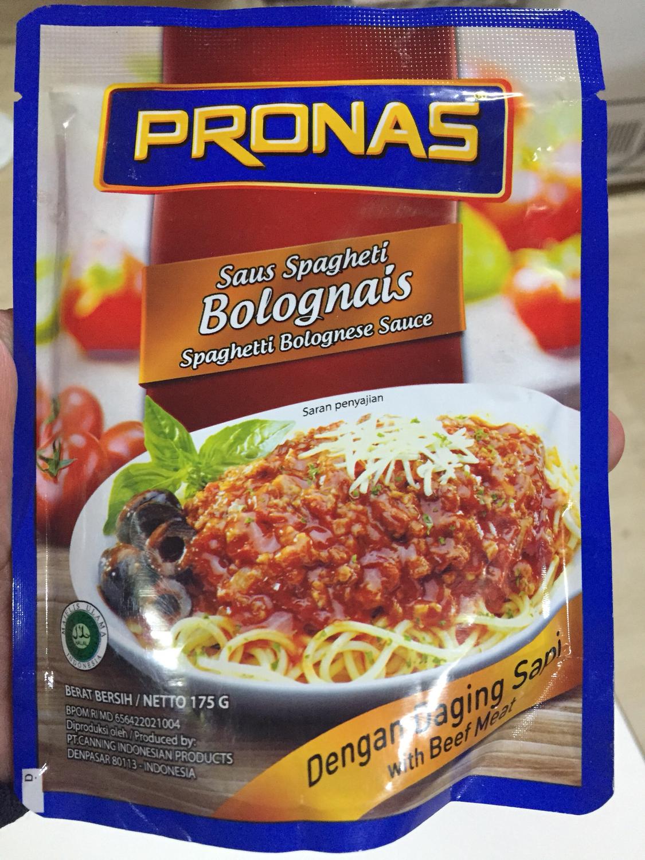 Pronas Saus Spaghetti Bolognais 175G