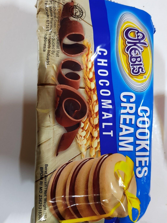 Roti  cookies cream coklat