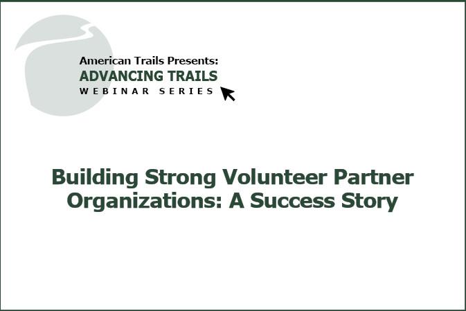 Building Strong Volunteer Partner Organizations: A Success Story (RECORDING)