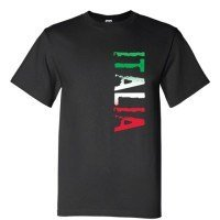 Distressed Black Italia T-Shirt 00176