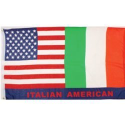 Italy/American Flag (3′ x 5′)