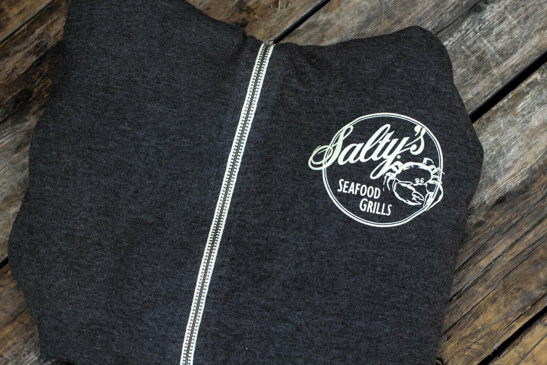 Salty's on Alki Zip Up Hoody
