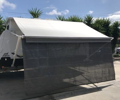 3.85m caravan privacy shade screen for 4.0m Fiamma box awning
