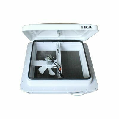 12 volt manual rv caravan shower roof vent with white lid