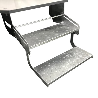Double Galvanised steel caravan camper trailer step