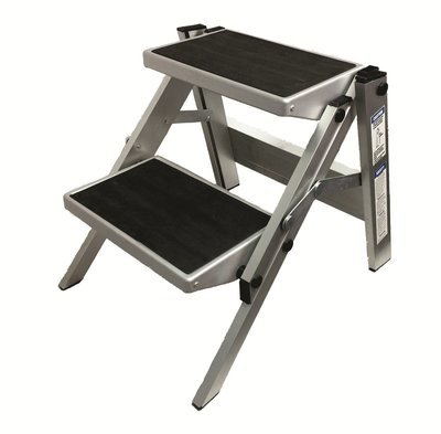 Double folding portable caravan step ladder