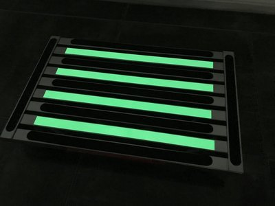 Illuminating single folding portable caravan camping step