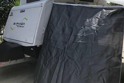 Pop top end wall caravan privacy screen sun shade