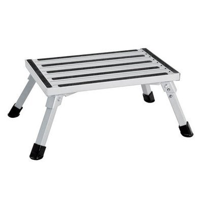 Single folding portable caravan camping step stool