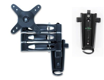 Triple arm LCD caravan RV TV bracket with 2 mounting brackets