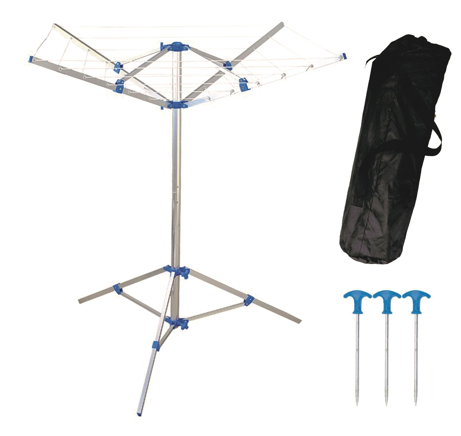 PORTABLE CAMPING CLOTHES LINE WITH PEGS /& CARRY BAG HANGER CAMPING