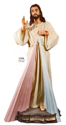 Barmhartige Christus 175 cm     Kunststof