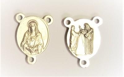 Medaille voor rozenkrans/paternoster zilverkleur