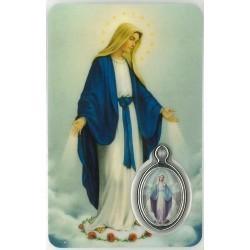 OLV Wonderbare Kaartje met Medaille en Gebed
