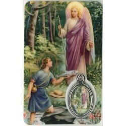 Aartsengel Rafael met Medaille en Gebed
