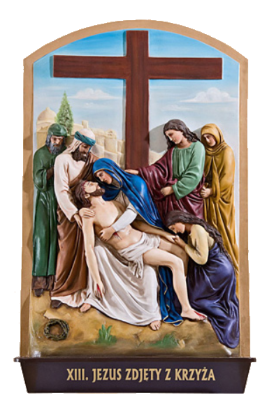 KRUISWEG 56 x 90 cm Gekleurd  Kunststof