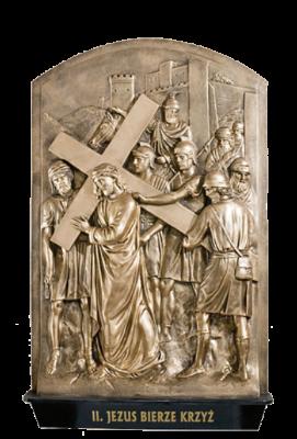 KRUISWEG 56 x 90 cm Bronskleur  Kunststof