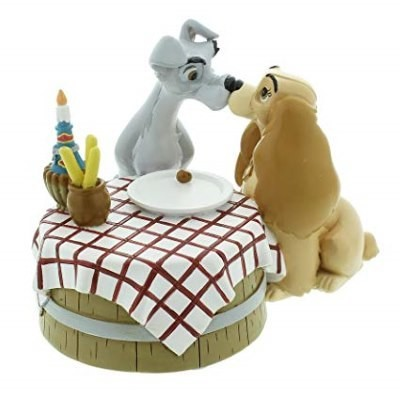 Beeldje Disney Lady & The Tramp Love Table MAGICAL MOMENTS