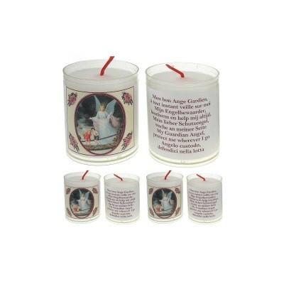Set van 4 kaarsen ENGELBEWAARDER  - 5 Talen -