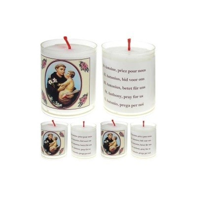 Set van 4 kaarsen ANTONIUS- 5 Talen -