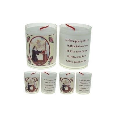Set van 4 kaarsen RITA - 5 Talen -