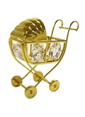 KINDERWAGEN Swarovski® Crystals - 24 K Verguld