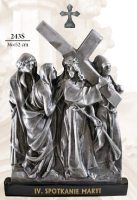 Kruisweg Zilverkleur 36 x 52cm  Kunststof