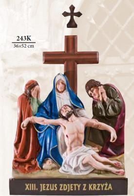 Kruisweg Gekleurd 36 x 52cm Kunststof