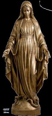 OLV Wonderbare 180 cm   bronskleur  Kunststof