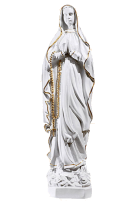 Lourdes 40 cm     Kunststof