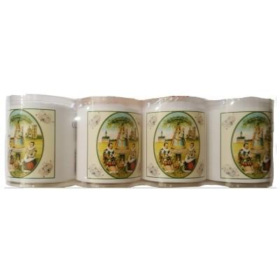 Set van 4 kaarsen SCHERPENHEUVEL - 5 Talen -